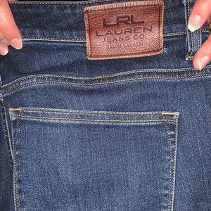 Ralph Lauren Modern Straight Curvy Blue Jeans
